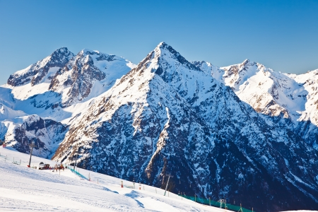 Photo pour Ski resort in French Alps - image libre de droit