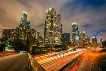 Photo pour Los Angeles at night - image libre de droit