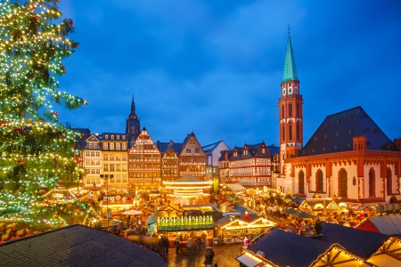 Photo for Traditional christmas market in Frankfurt, Germany - Royalty Free Image