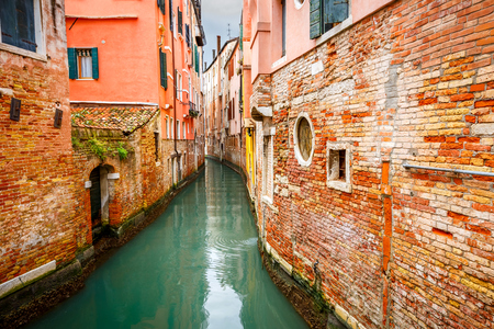 Brightly colored Canal in Venice
