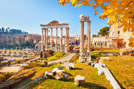 Roman ruins in Rome, Italy