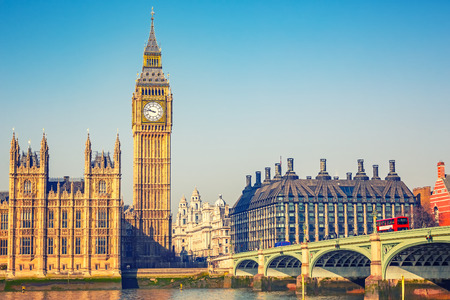 Photo for Big Ben and westminster bridge in London - Royalty Free Image