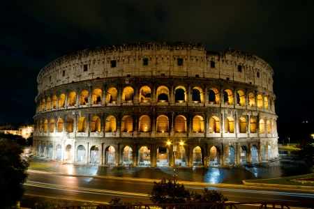 Colosseum at night, Rome, It