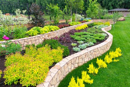 Photo pour Natural flower landscaping in home garden - image libre de droit