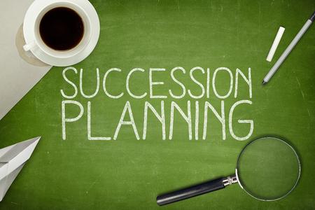Photo pour Succession planning concept on blackboard with pen - image libre de droit