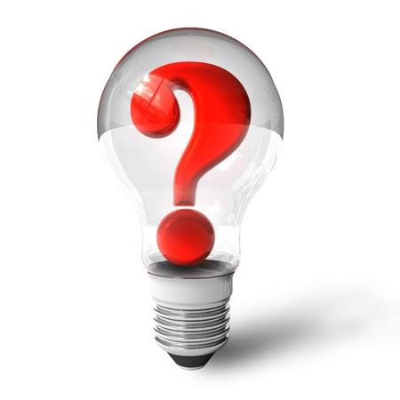 Photo pour Question mark in lightbulb - image libre de droit