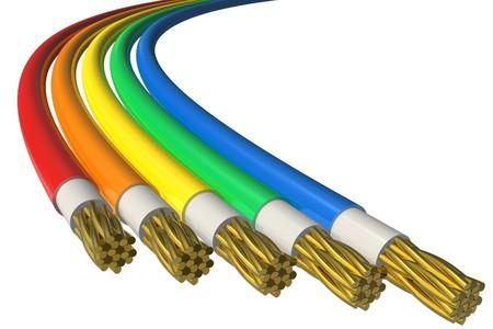 Color power cables