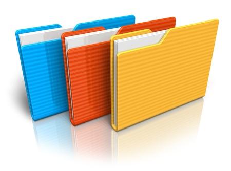 Photo pour Color folders - image libre de droit
