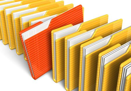 Row of file folders