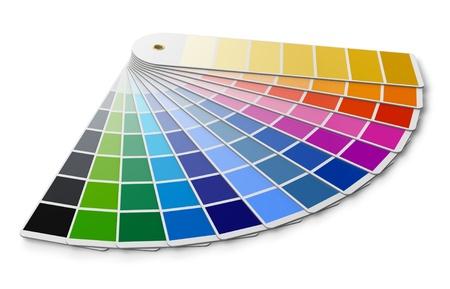 Foto de Pantone color palette guide isolated on white background - Imagen libre de derechos