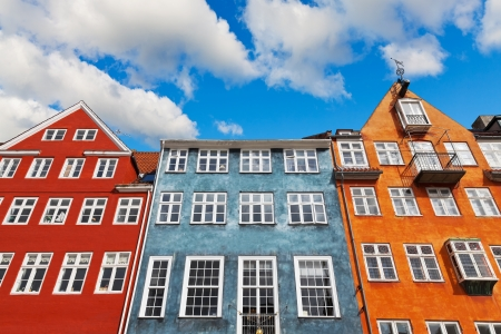 Old classic architecture of Nyhavn in Copenhagen, Denmark