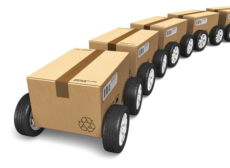 Shipping, logistics and delivery concept