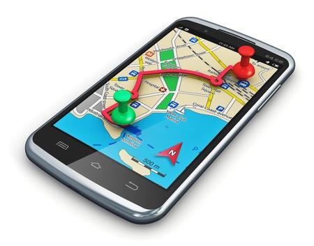 Photo pour Travel, car auto tourism and route planning concept - image libre de droit