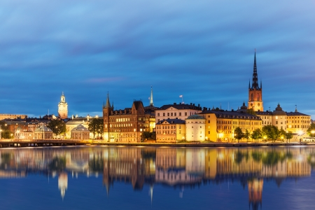 Evening summer scenery of the Old Town  Gamla Stan  in Stockholm, Sweden