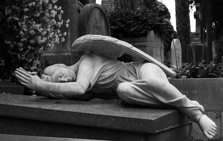 Photo for Statue of an angel in a cemetery - Royalty Free Image