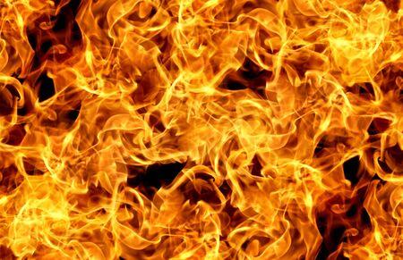 Photo pour Fire flames on a black background abstract. - image libre de droit