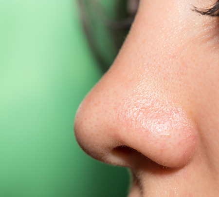 Women's nose, close-up