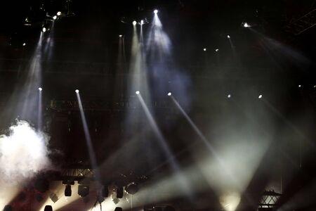 Photo pour Rock stage concert light as background. - image libre de droit