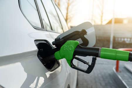 Photo for Refueling the car with biofuel - Royalty Free Image