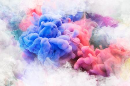 Photo for Blue, pink, purple vape smoke - Royalty Free Image