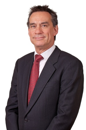 Portrait of Attractive Smiling Middle Age Business Man