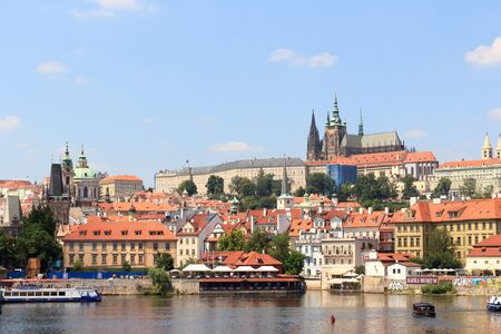 View towards Prague Castle and Mala Strana Lesser Town