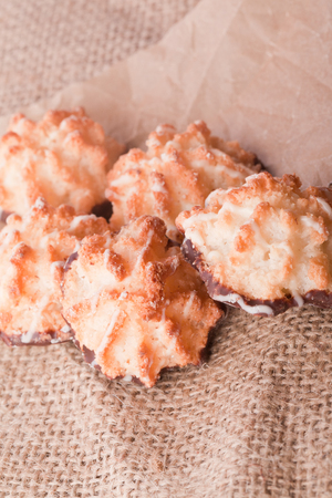 coconut macaroons fresh homemade christmas cookies