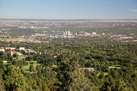 high view over colorado spings
