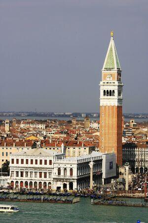 Hafeneinfahrt der Stadt Venedig, Italien,