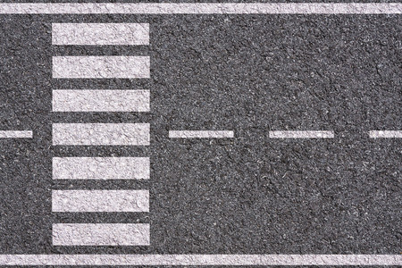 Photo for White lines and crosswalk on asphalt texture background - Royalty Free Image