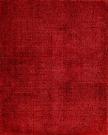 An old, textured cloth book cover with a red screen pattern.