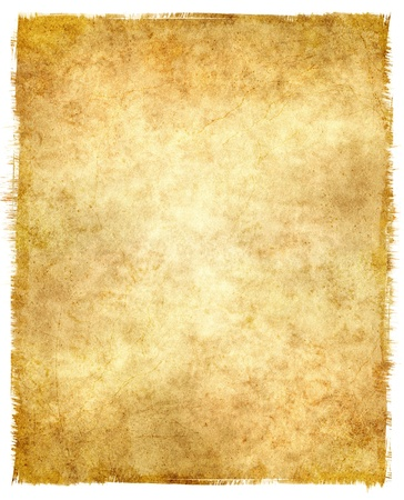 Grungy old paper with tattered edges and a glowing center.