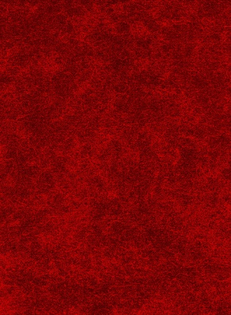 A red paper background with heavy texture patterns.
