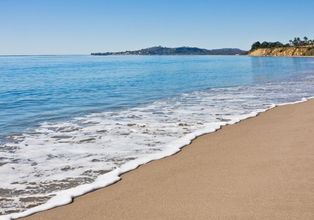 Butterfly beach in Santa Barbara on a very calm day.