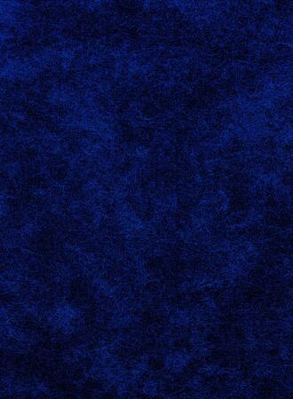 A blue on black background with heavy paper textures.