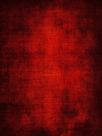 A red screen mesh pattern with a dark grunge vignette.