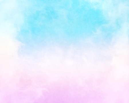 Clouds and fog with a pink to cyan-blue gradient.  This image has a paper texture background for added depth and mottling; a pleasing grain and texture is clearly visible when viewed at 100 percent.