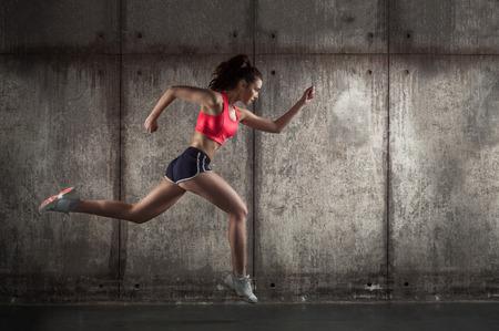 photo of caucasian adult girl - runner