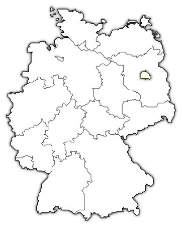 Germany Map Berlin Highlighted Royalty Free Images Photos And