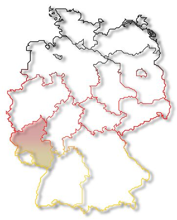 Map Of Germany Rhineland.Political Map Of Germany With The Several States Where Rhineland