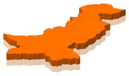 Political map of Pakistan with the several provinces.