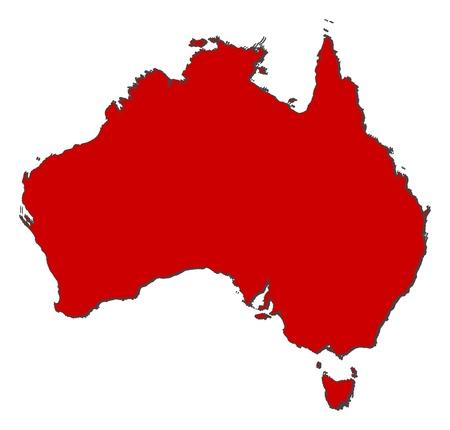 Vektor für Political map of Australia with the several states. - Lizenzfreies Bild