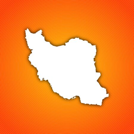 Political map of Iran with the several provinces.