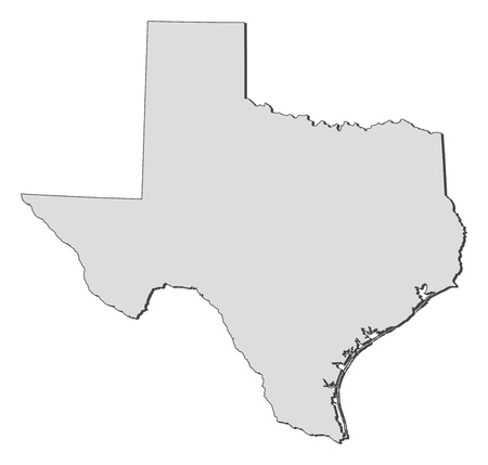 Map of Texas, a state of United States.