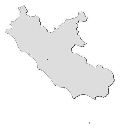 Map of Lazio, a region of Italy.
