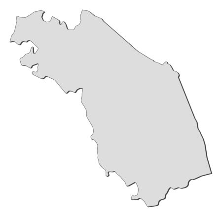 Map of Marche, a region of Italy.