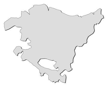 Map of Basque Country, a region of Spain.