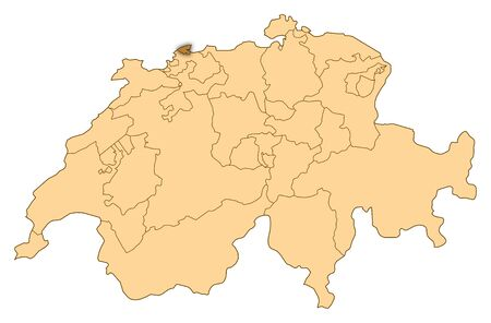 Map of Switzerland where Basel-Stadt is highlighted.