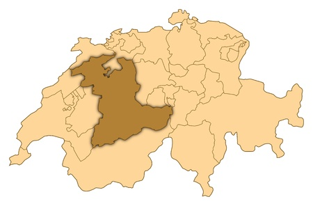 Map of Switzerland where Bern is highlighted.
