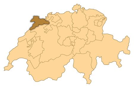 Map of Switzerland where Jura is highlighted.